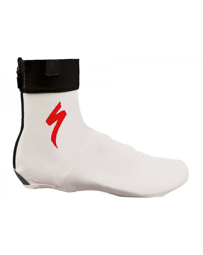 SHOE COVER S LOGO WHT RED M