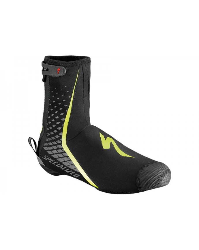 DEFLECT PRO SHOE COVER BLK NEON YEL M