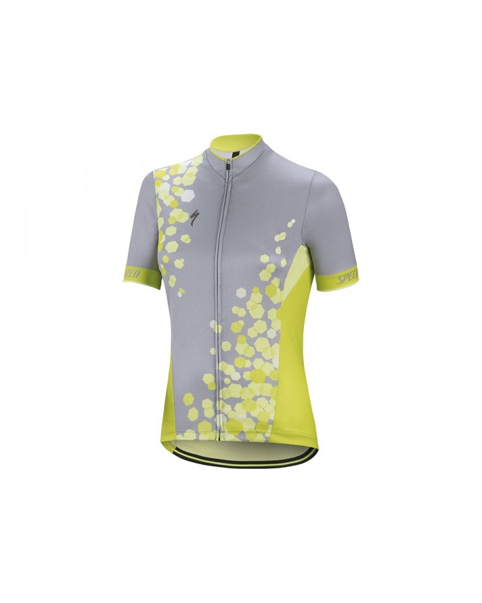 RBX COMP JERSEY SS WMN GREY HYPGRN M