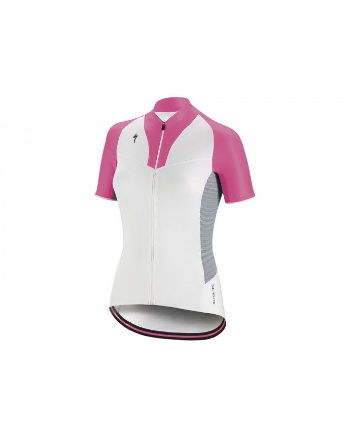 SL Elite Maillot Specialized Mujer Blanco/Rosa Neon 1 IBKBike.es