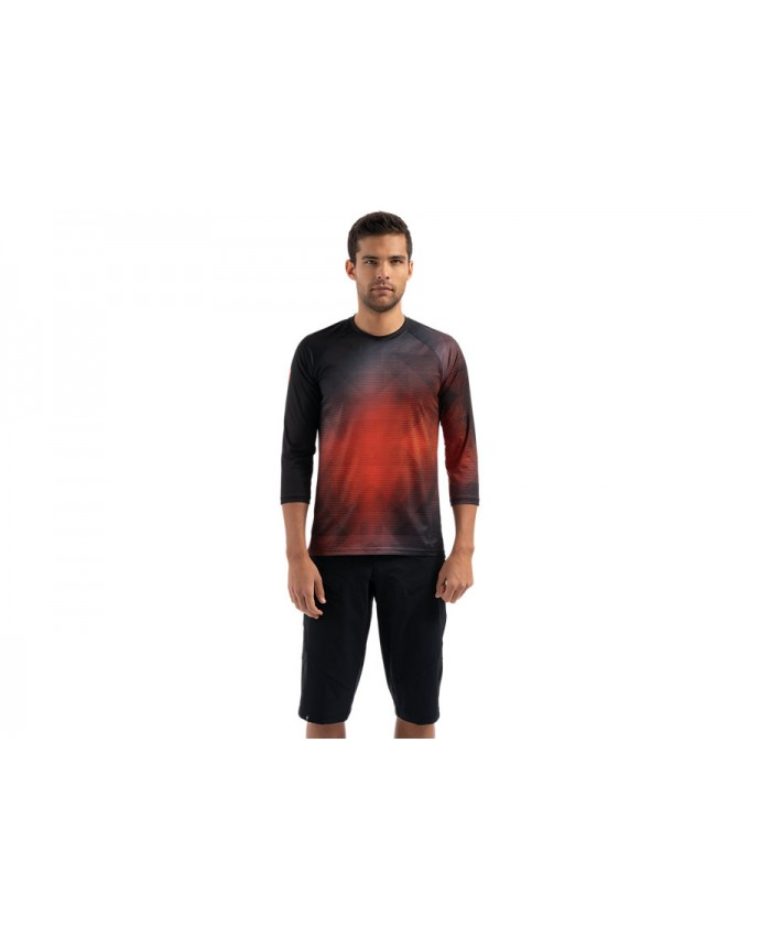 Demo 3/4 Jersey Specialized Hombre Black/Rocket Red Refraction