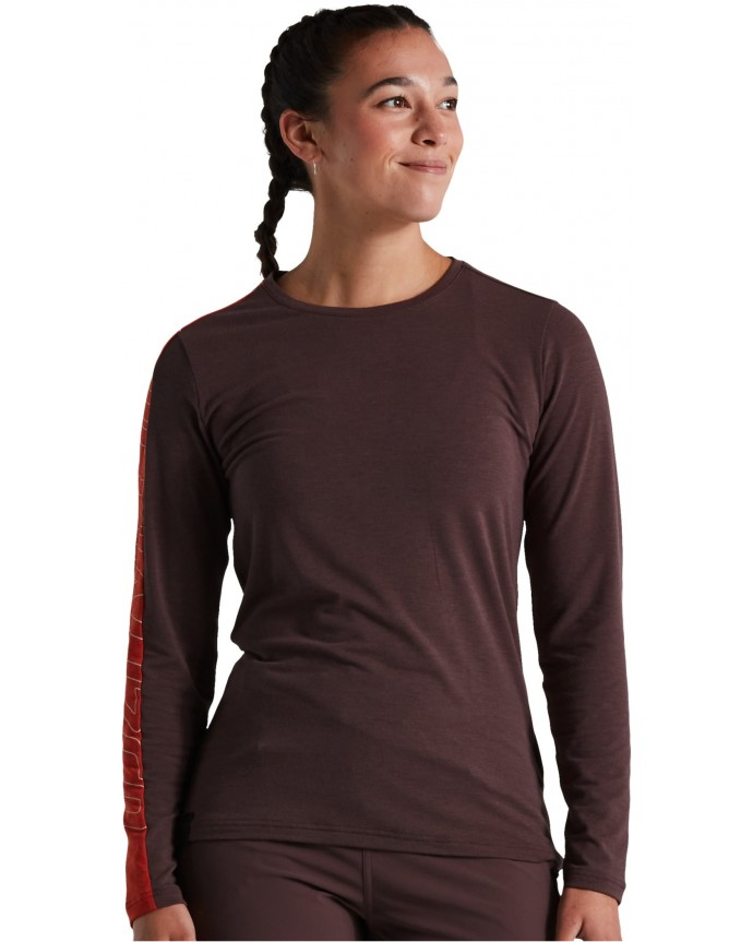 Trail Jersey LS Specialized Mujer Cast Umber