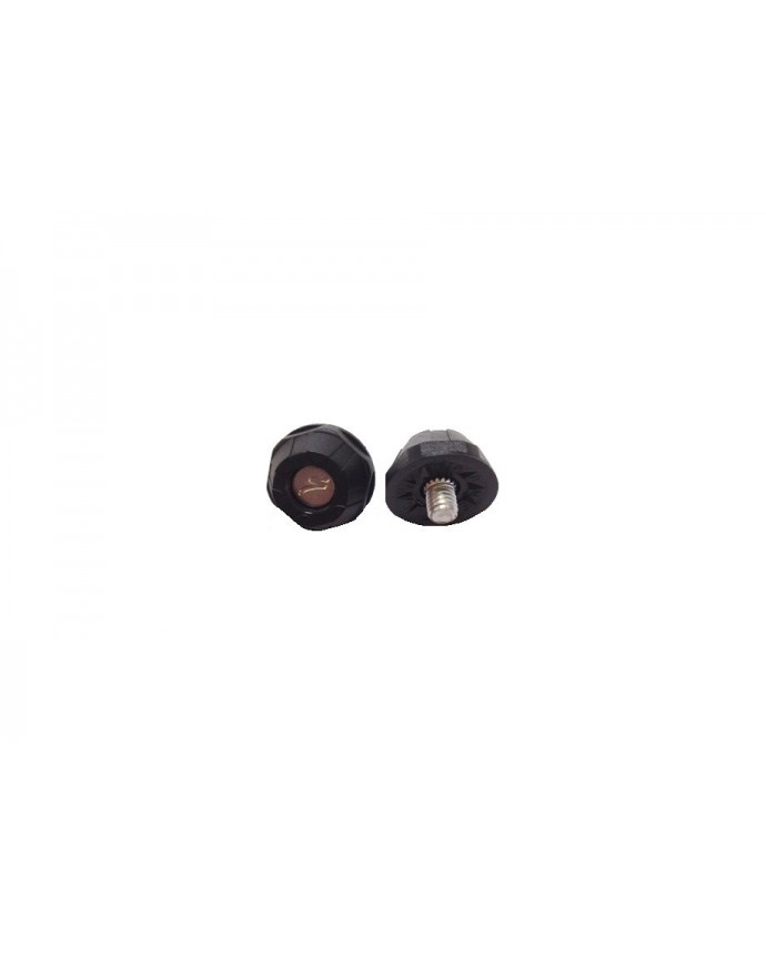 REPLACEMENT MTB TOE STUDS BLK SIL 20 PK