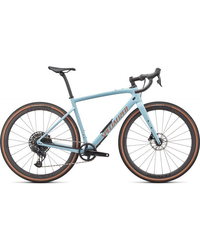 Diverge Expert Carbono Specialized 2022 Gloss Arctic Blue/Sand Speckle/Terra Cotta