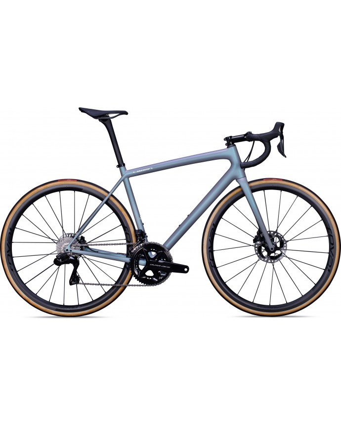 Aethos S-Works Di2 Bicicleta Carretera Specialized 2022 Cool Gris/Chameleon Eyris Tint/Brushed Chrome
