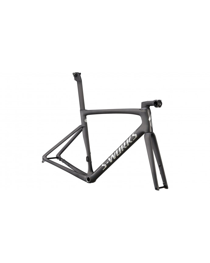 Tarmac SL7 S-Works Cuadro Carretera Specialized 2022 Satin Carbon/Spectraflair Tint/Gloss Brushed Chrome