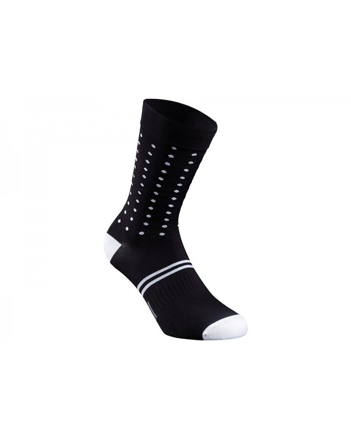 DOTS SUMMER SOCK BLK WHT XL