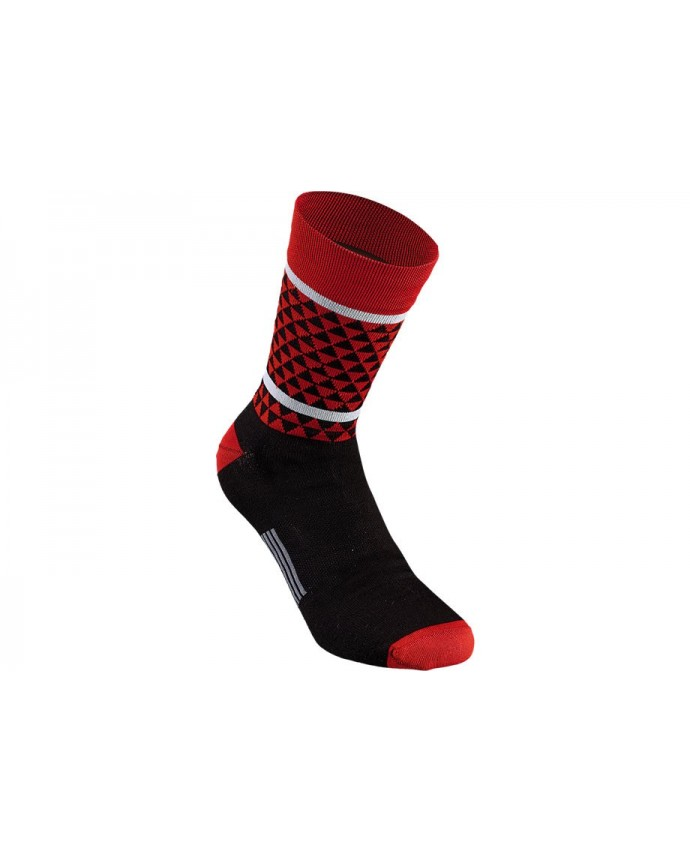 TRIANGLE SOCK BLK RED XL
