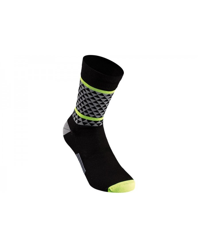 TRIANGLE SOCK BLK NEON YEL XL