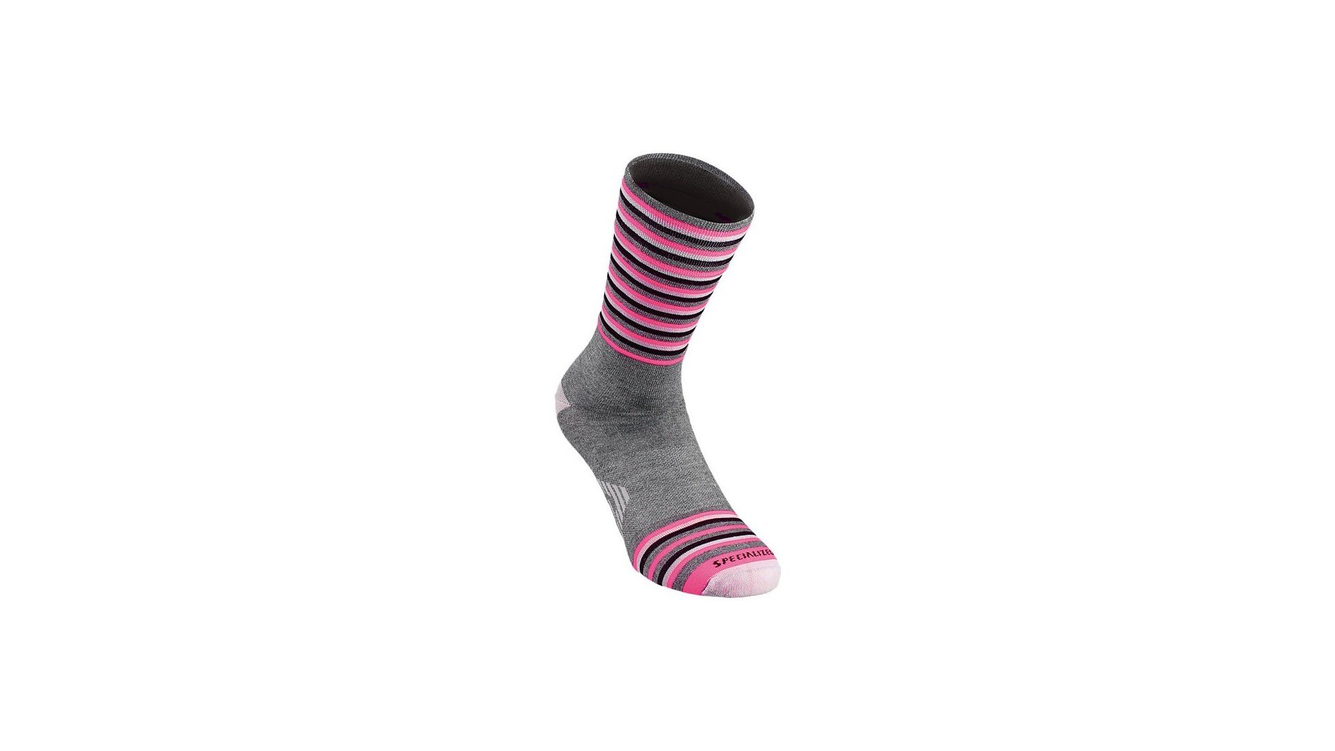 Full Stripe Calcetines Invierno Specialized Gris/Rosa Neon 1 IBKBike.es