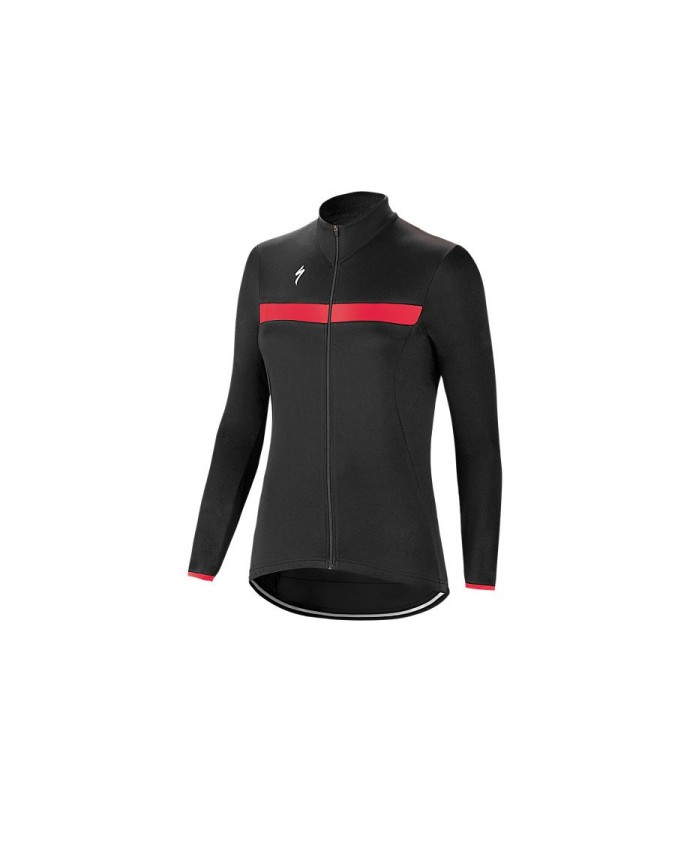 THERMINAL RBX SPORT JERSEY LS WMN BLK ACDRED M