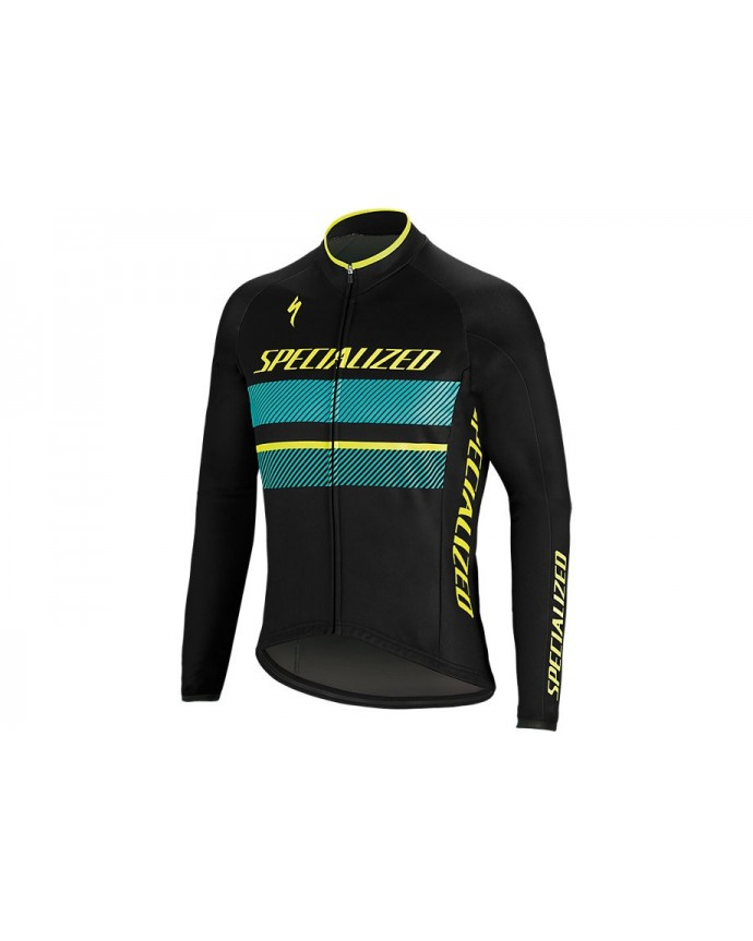 Element Rbx Comp Logo Maillot Specialized Negro/Teal Oscuro/Amarillo 1 IBKBike.es