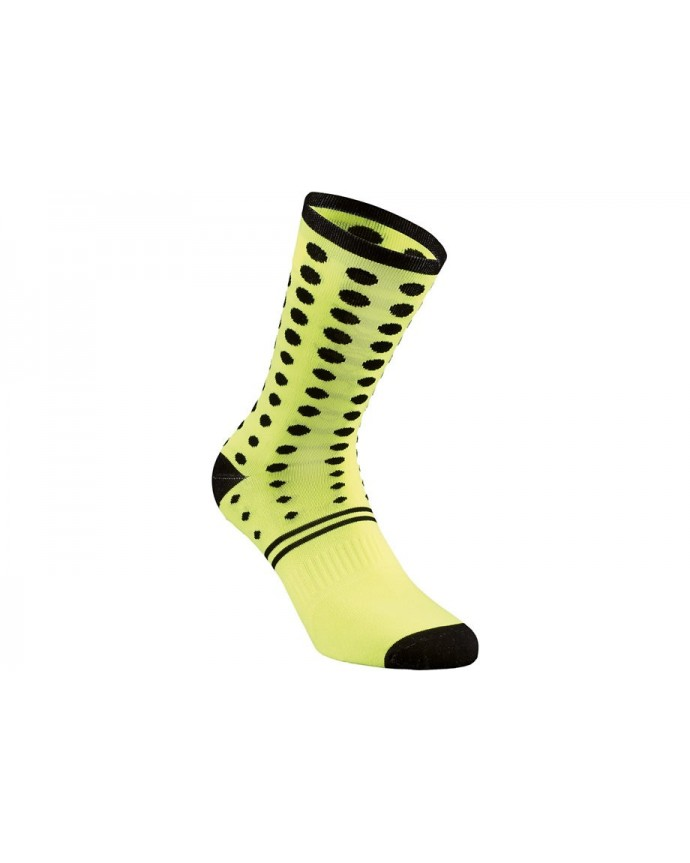 DOTS SUMMER SOCK NEON YEL BLK XL