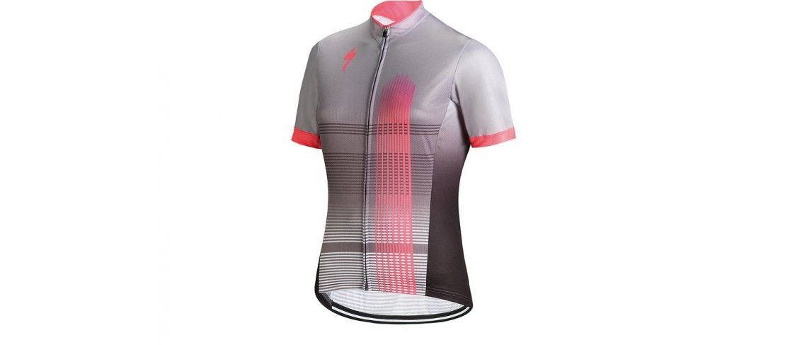 Rbx Comp Maillot Specialized Mujer Gris Claro/Rosa Neon 1 IBKBike.es