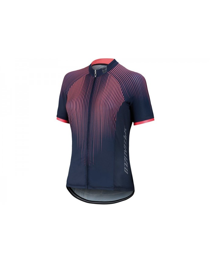 SL PRO JERSEY SS WMN LINE FADE ACDRED M