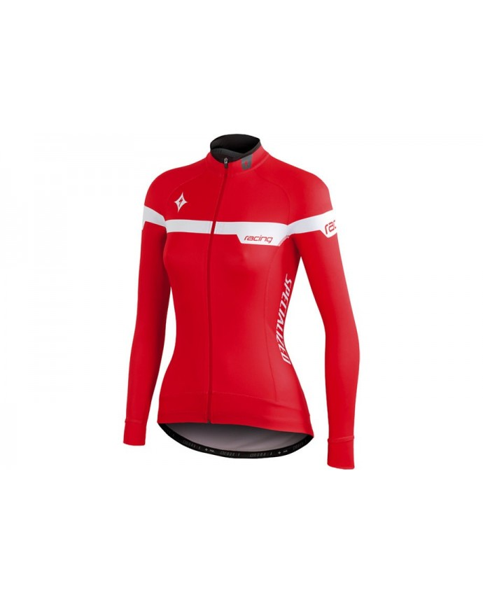TEAM PRO JERSEY LS WMN RED WHT XL