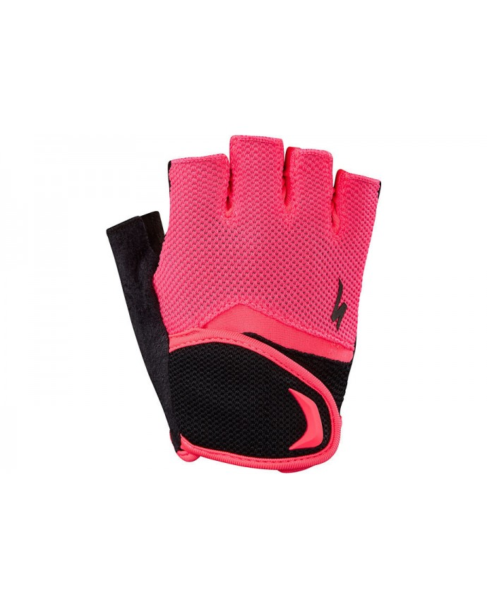 Guantes Specialized Body Geometry Niños Black/Acid Red