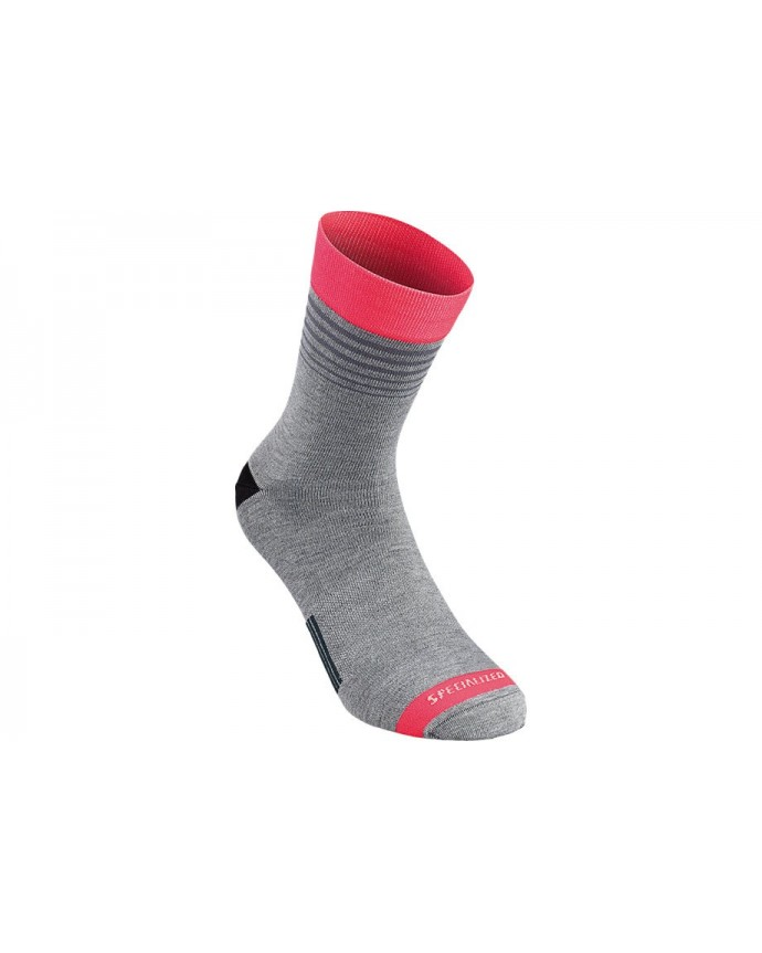 RBX COMP STRIPE SOCK GRY ACDRED L