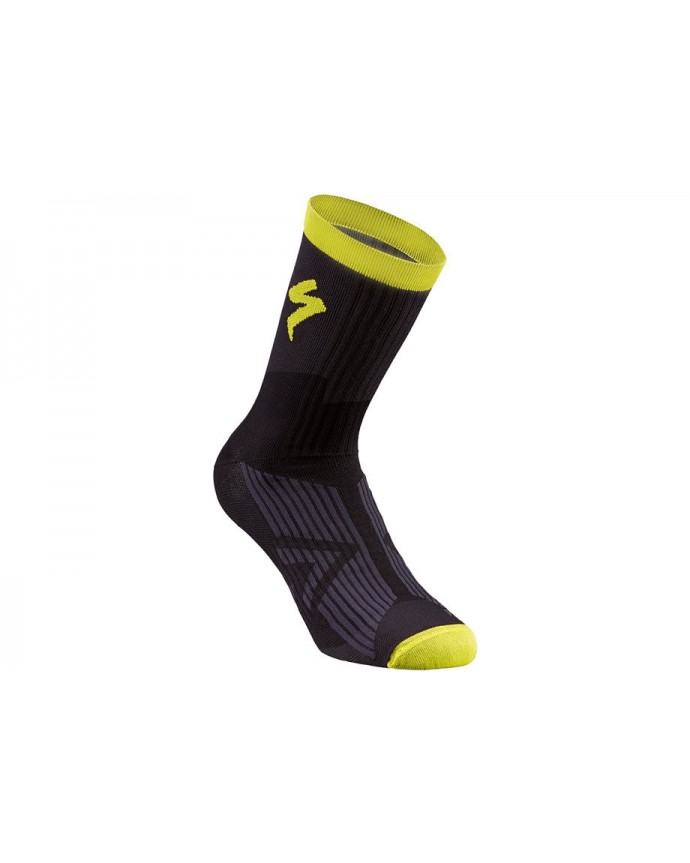 SL ELITE SUMMER SOCK BLK NEON YEL L