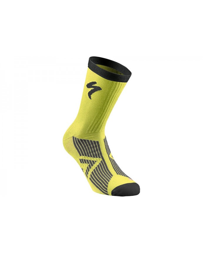 SL ELITE SUMMER SOCK NEON YEL BLK L
