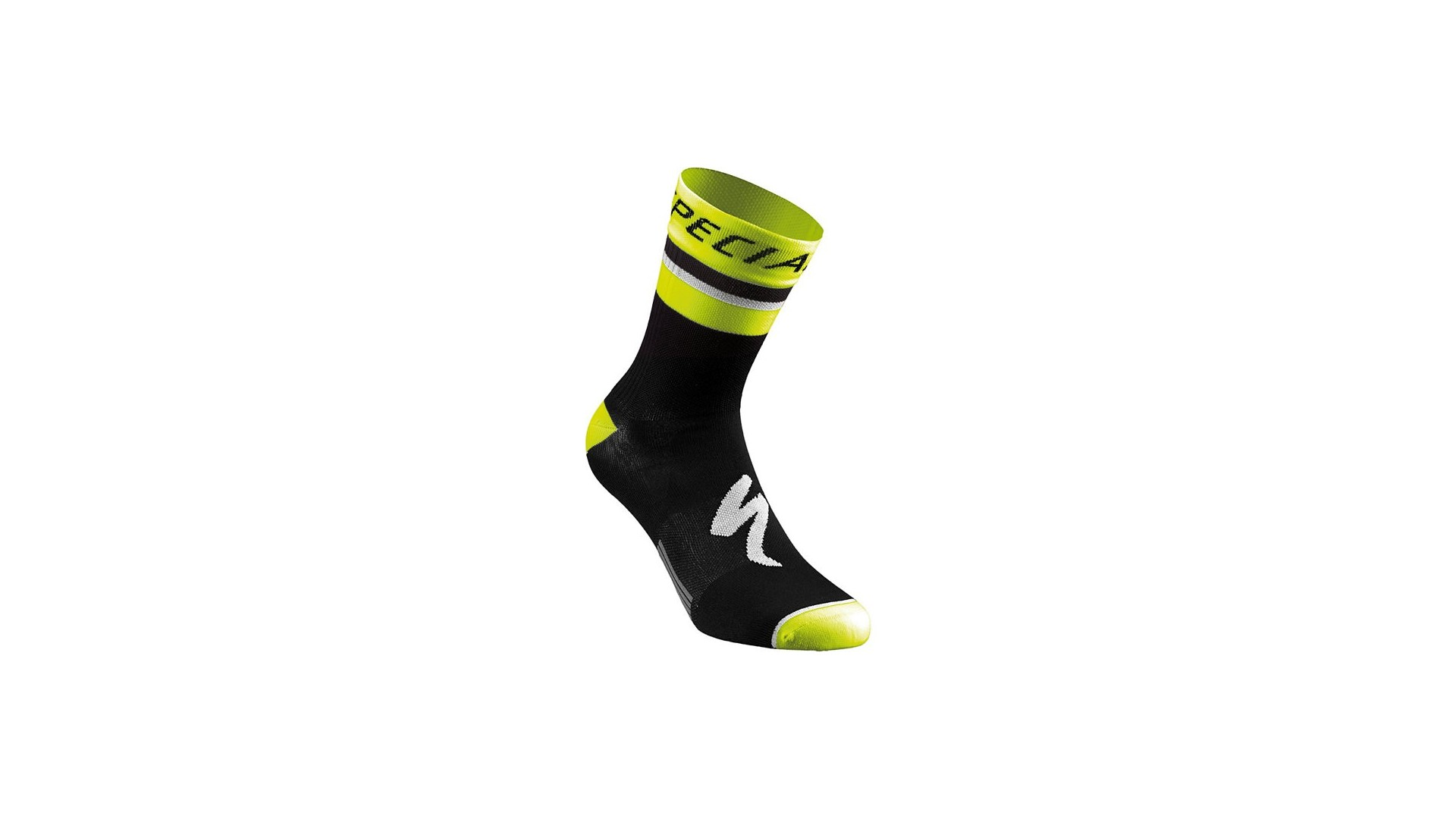 RBX Comp Logo Calcetines Verano Specialized Black/Neon Yellow 1 IBKBike.es
