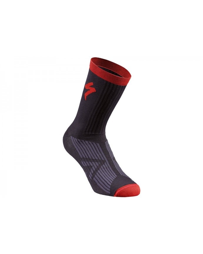 SL ELITE SUMMER SOCK BLK RED S