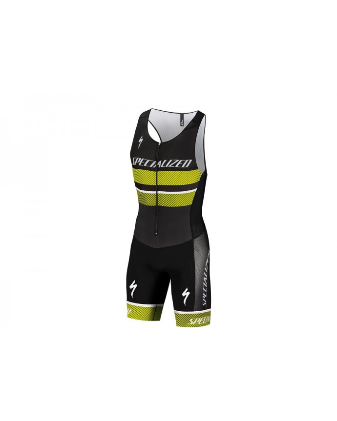 TRIATHLON RACE SKINSUIT BLK NEON YEL M