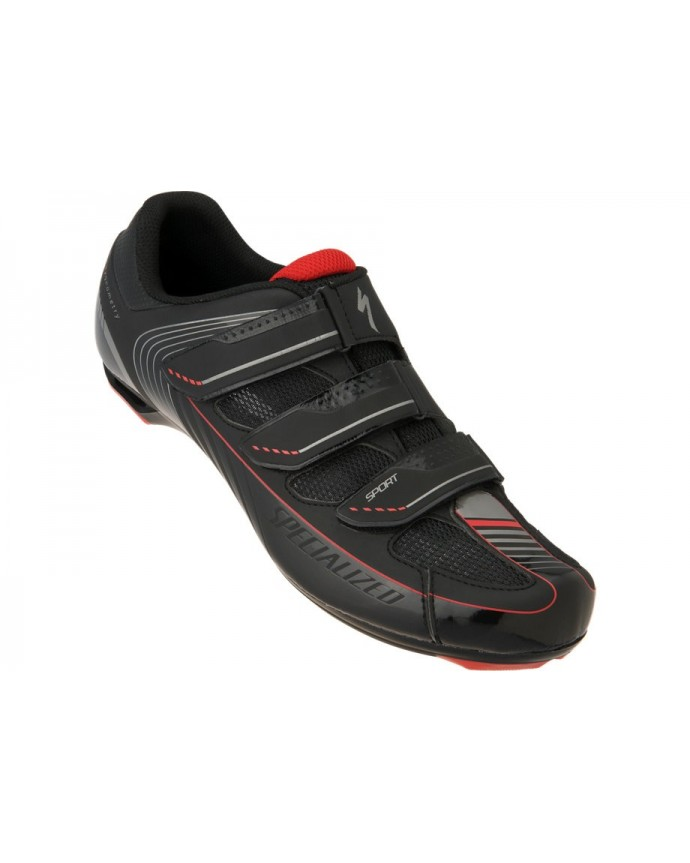 SPORT RD SHOE BLK RED 41
