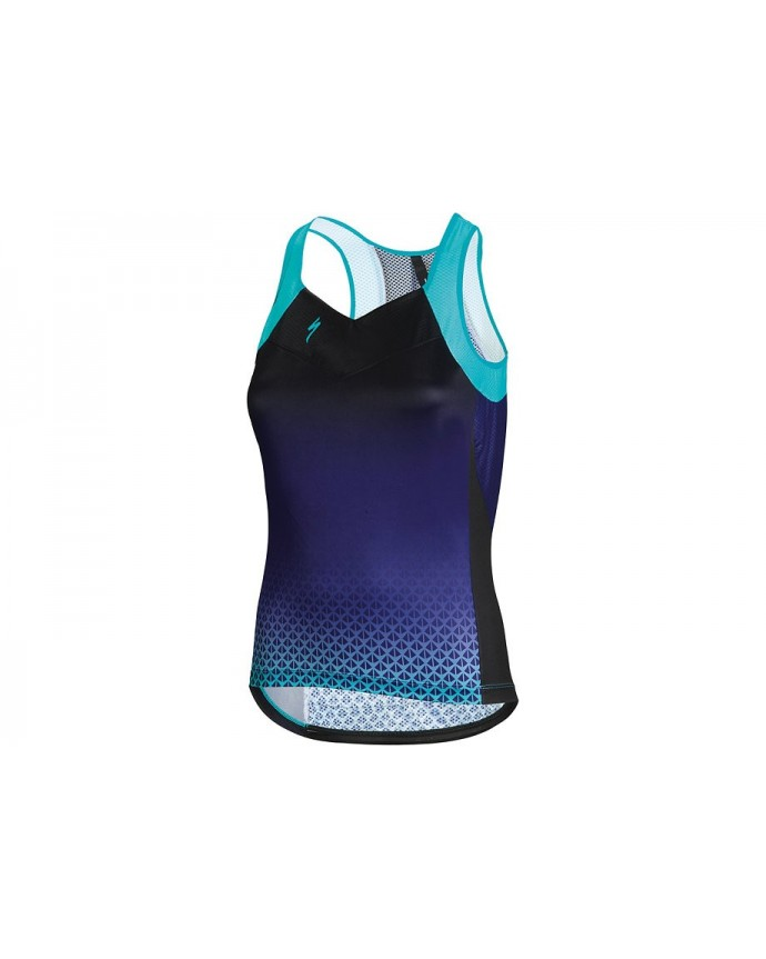 SL Elite Tank Maillot Specialized Mujer Black/Turquoise 1 IBKBike.es