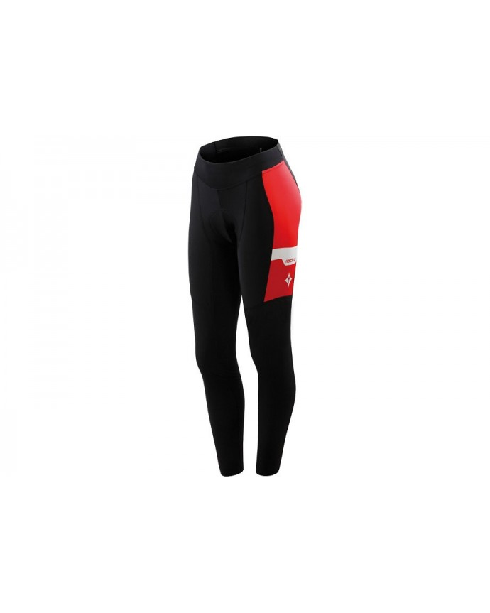 Culotte Therminal Team Pro Mujer Specialized Negro/Rojo 1 IBKBike.es
