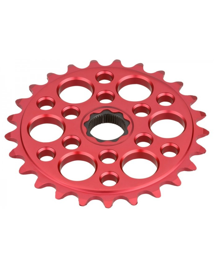PSPROCKET 27T RED ANO