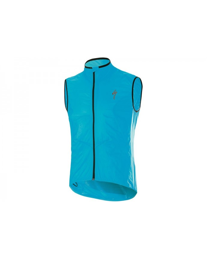 DEFLECT COMP WINDVEST NEON BLU M