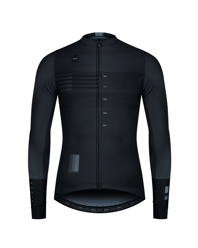 Maillot Manga Larga Cobble Hombre Black Shade S20