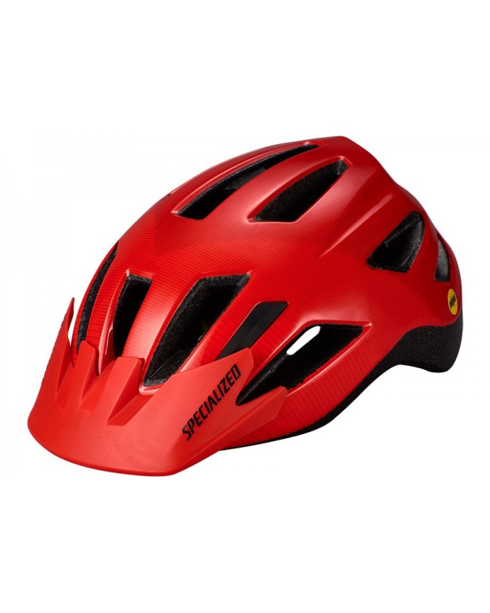 Shuffle Led Mips Casco Ciclismo Specialized Jovenes Rocket Red/Crimson Accel 1 IBKBike.es