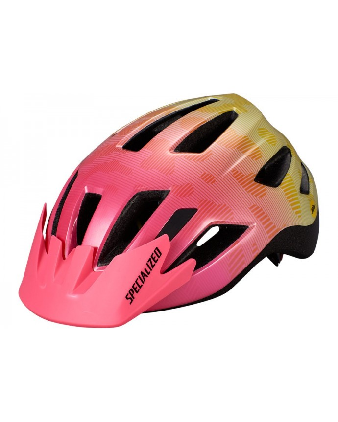 Shuffle Led Mips Casco Ciclismo Specialized Jovenes Yellow/Acid Pink Terrain 1 IBKBike.es