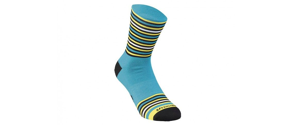 Full Stripe Calcetines Invierno Specialized Nice Blue/Black/Yellow 1 IBKBike.es