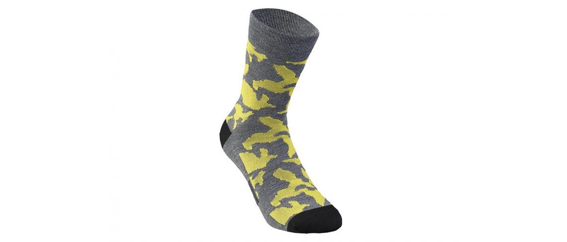Camo Calcetines Invierno Specialized Anthracite/Ion Yellow Camo 1 IBKBike.es