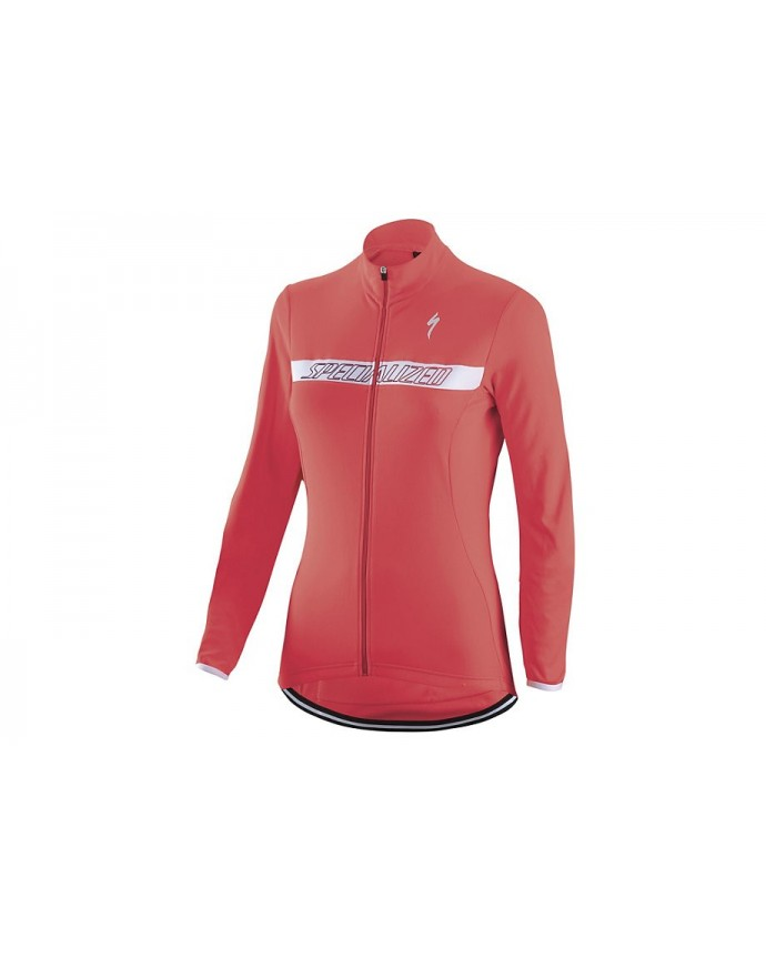Therminal Rbx Sport Logo Maillot Specialized Mujer Acid Red 1 IBKBike.es