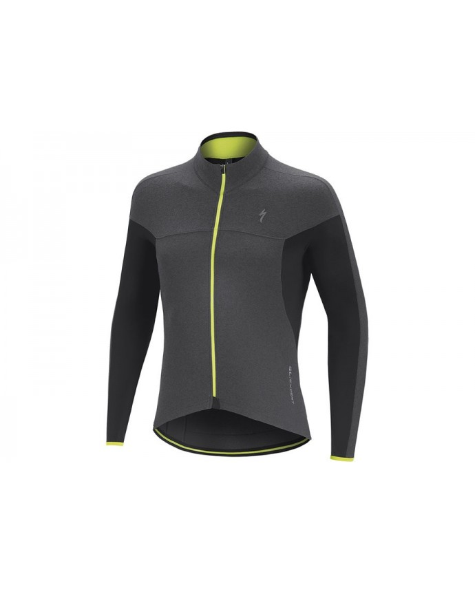 Therminal SL Expert Maillot Specialized Dark Grey/Neon yellow 1 IBKBike.es