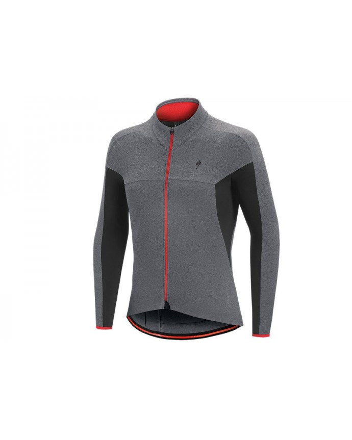 Therminal SL Expert Maillot Specialized Light Grey/Red 1 IBKBike.es