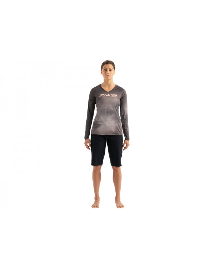 Andorra Air Maillot LS Mujer Slate / White Mountains Refraction 1 IBKBike.es