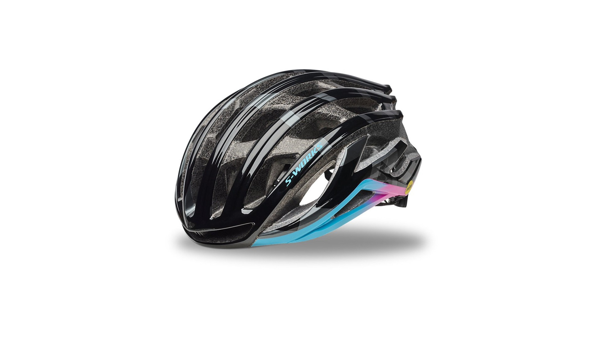 S-Works Prevail II Mips Mixtape Collections LTD Casco Ciclismo Carretera Specialized Negro/Azul/Rosa 1 IBKBike.es