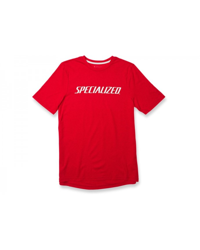 STANDARD TEE WORDMARK RED HTHR WHT XXL