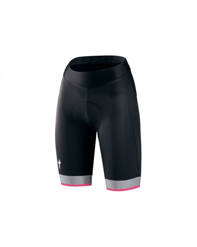 Culotte Rbx Comp Logo Team Short Specialized Mujer Negro/Negro/Gris Claro/Rosa Neon 1 IBKBike.es
