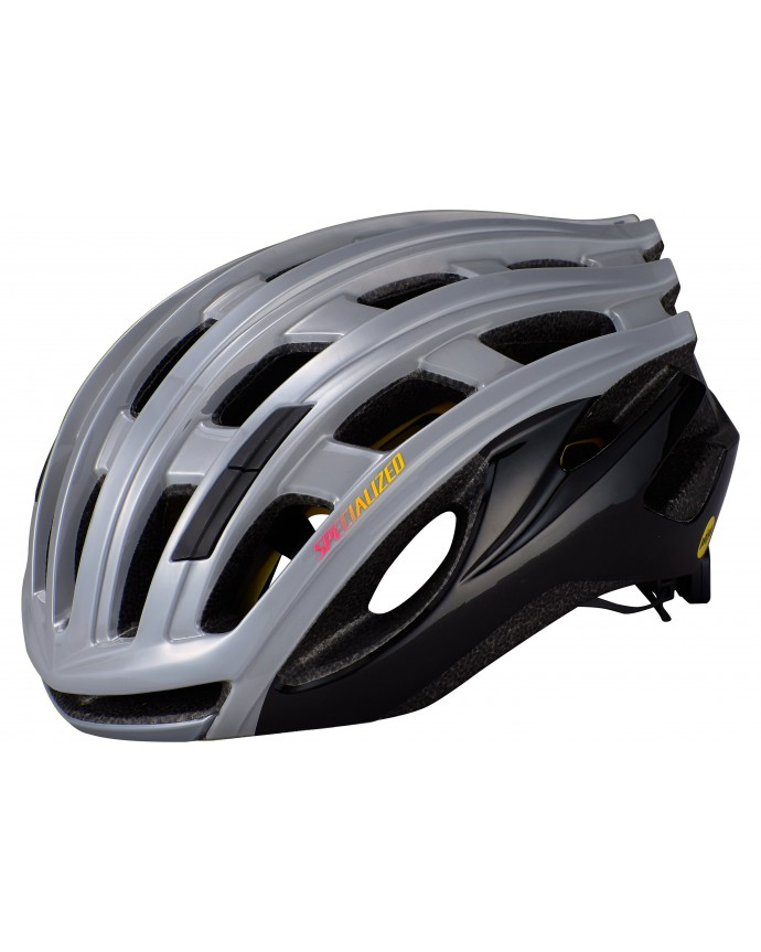 Propero 3 Angi Mips Casco Ciclismo Carretera Specialized Cool Grey/Acid Pink/Golden Yellow