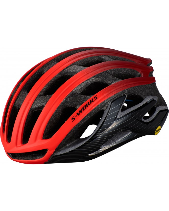 S-Works Prevail II Angi Mips Casco Ciclismo Carretera Specialized Rocket Red/Crimson/Black