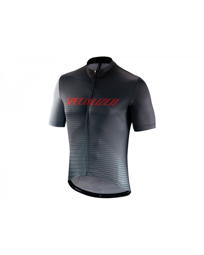 RBX COMP LOGO TEAM JERSEY SS BLK GRY RED L