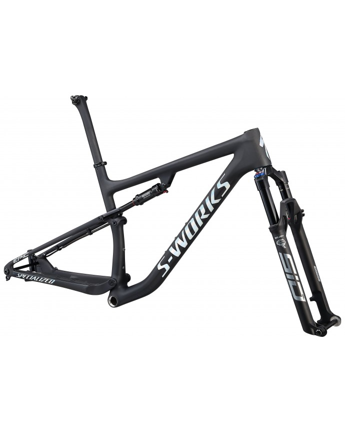S-Works Epic Carbon 29 Cuadro XC Specialized 2021 Satin Carbon/Gloss White Spectraflair