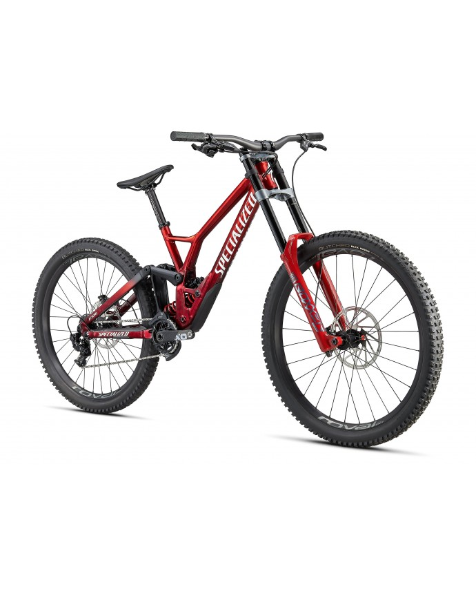Demo Race MTB Specialized 2021 Gloss Brushed/Red Tint/White