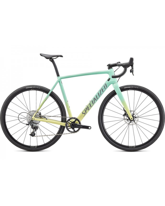 Crux Comp Bicicleta Ciclocross Specialized 2021 Gloss Oasis/Ice Yellow Fade/Cool Grey